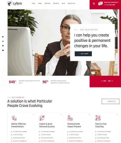 Lyfpro a public speaker website design