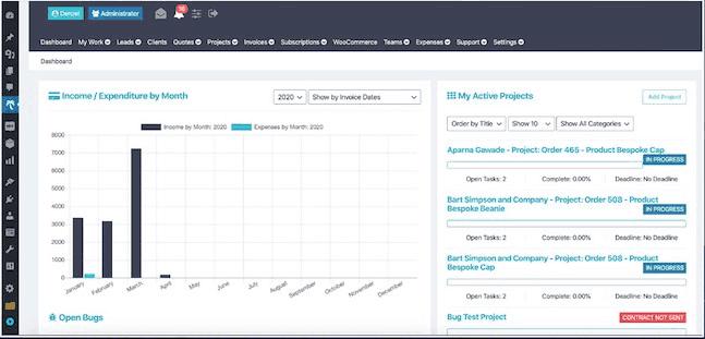 Projectopia a task management WordPress plugin