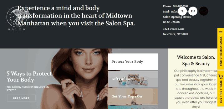 SALON a Hair Stylist & Beauty Salon Website WordPress Theme