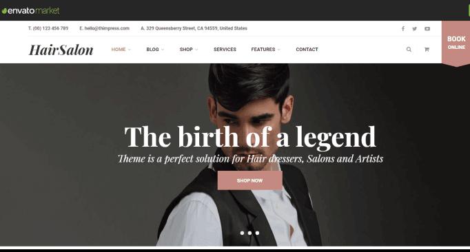 Salox a Hair Salon Website Theme