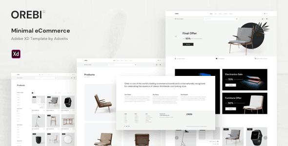 Orbei - Minimial e-commerce Adobe XD template