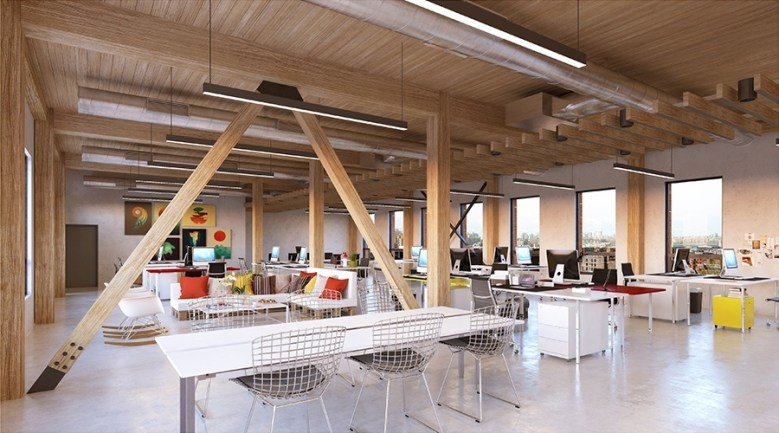 Wythe building Brooklyn New York - Wooden Beam Construction
