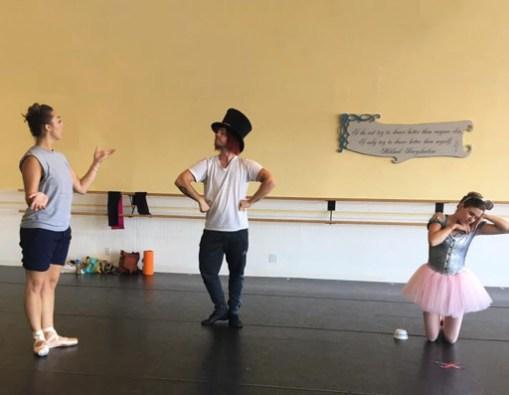 Jennifer Cafarella Artistic Director rehearse Convergence Ballet