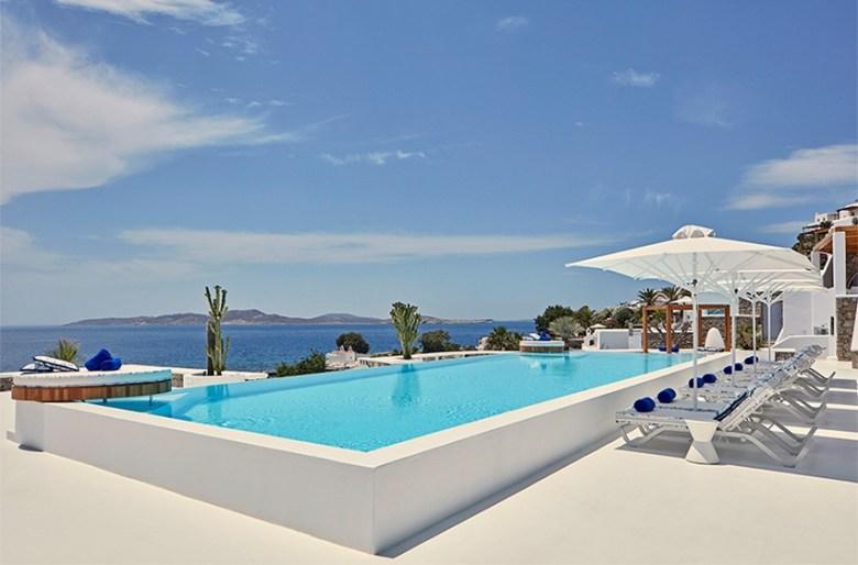 Katikies Mykonos - pool and ocean view