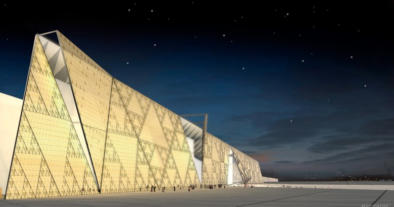 Grand Egyptian Museum Rendering by Heneghan Peng Architects