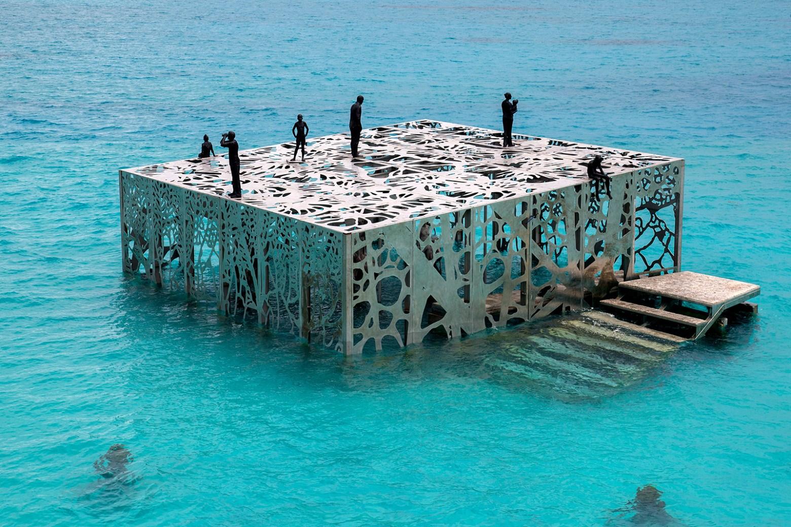 Coralrarium art museum exterior at the Fairmont Maldives