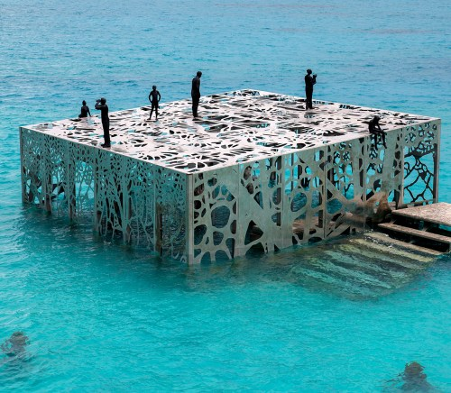 Coralrarium art museum exterior at the Fairmont Maldives