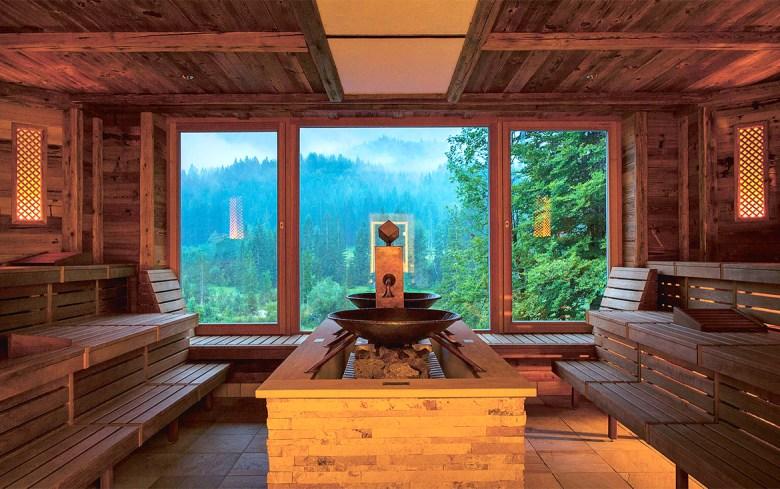 Schloss Elmau Sauna Bavaria - Sauna with Mountain View