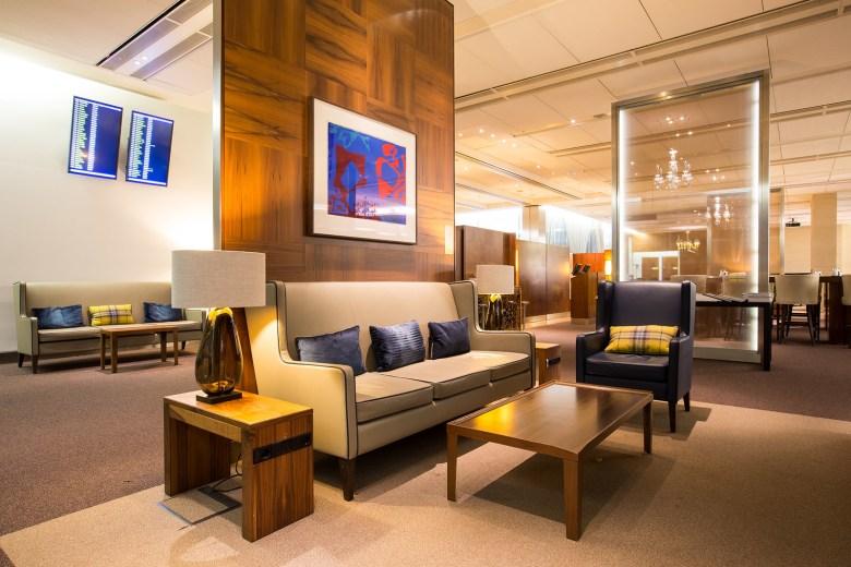 CONCORDE ROOM Lounge - British Airways, Heathrow Airport, London, England