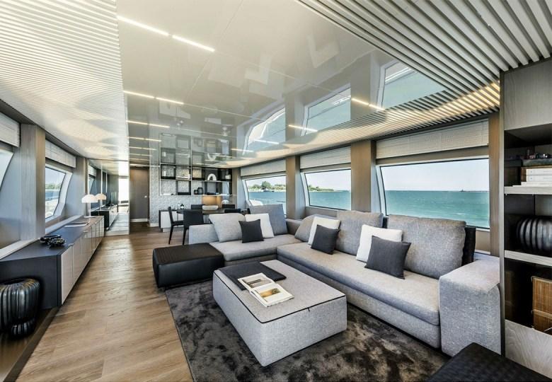 Ferretti Yacht interior
