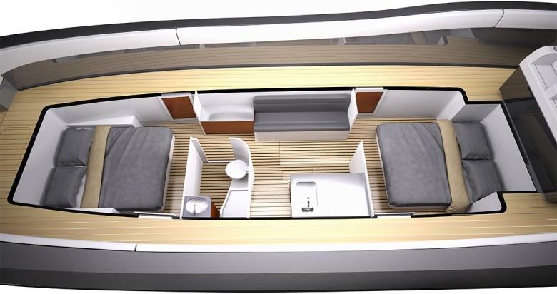Midnight Express yacht Interior