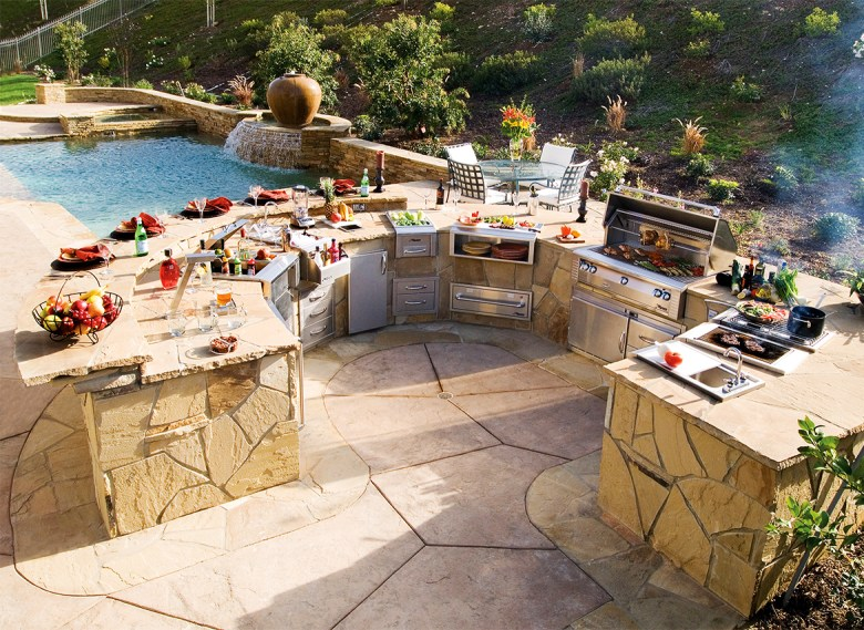 Backyard grilling and entertaining