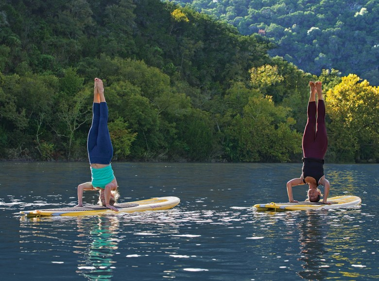 Lake Austin Headstands