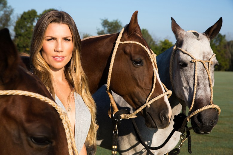 Ashley Busch and Horses