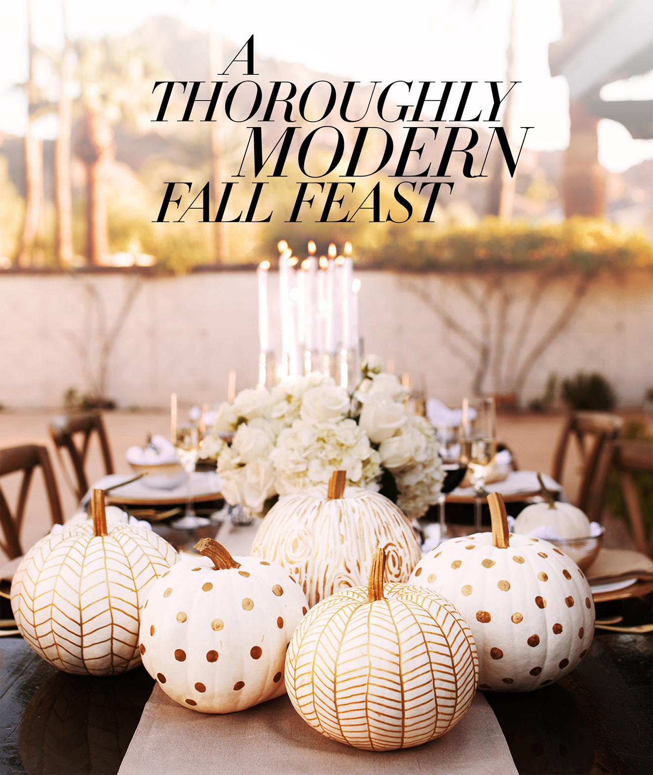 Modern Fall Tablescapes