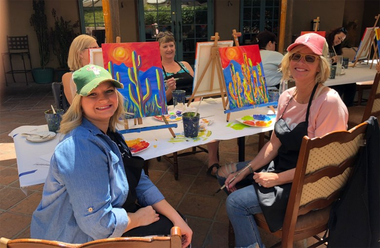Painting with Carrie Curran