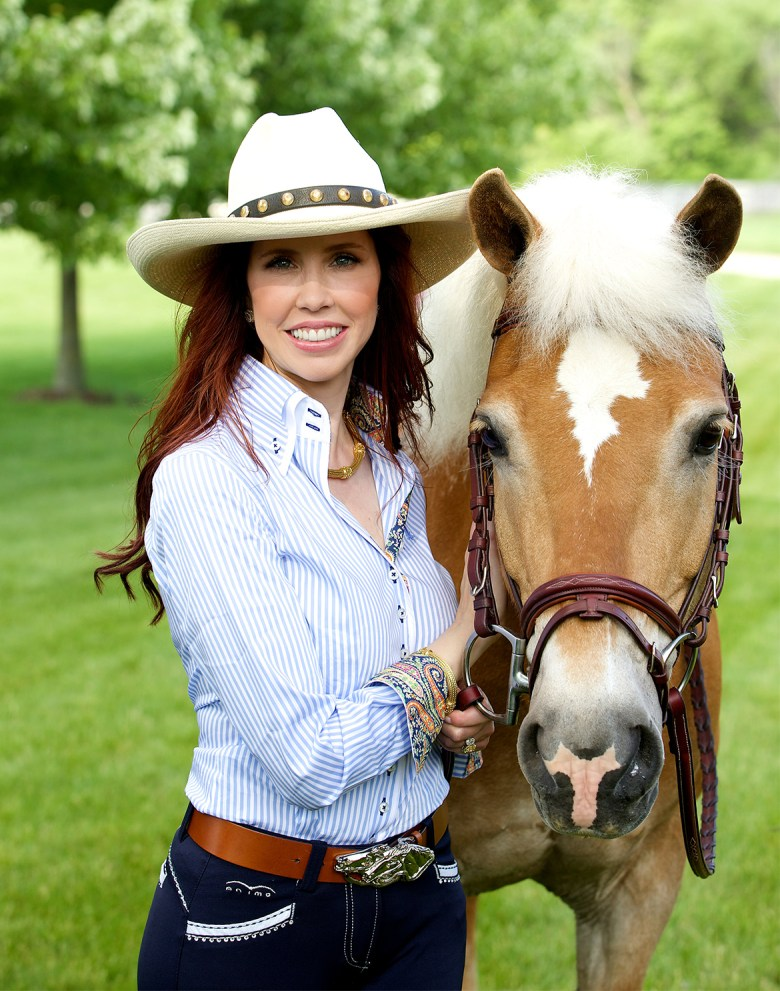 Dr. Stacie Stephenson with Horse