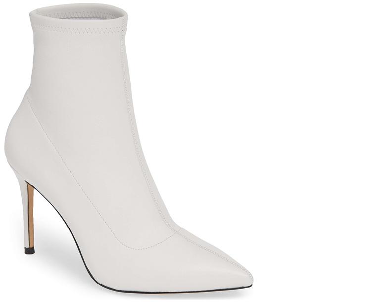 elegant White Boots