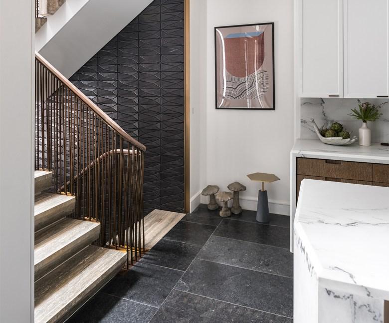 Architect Michael K. Chen - Modern Manhattan Redo - Back Stair Case