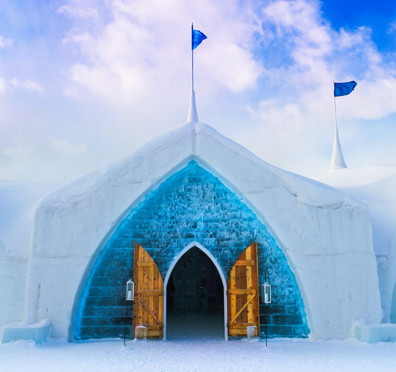 HOTEL DE GLACE – Quebec City, Quebec, Canada - Ice Hotel Entrance