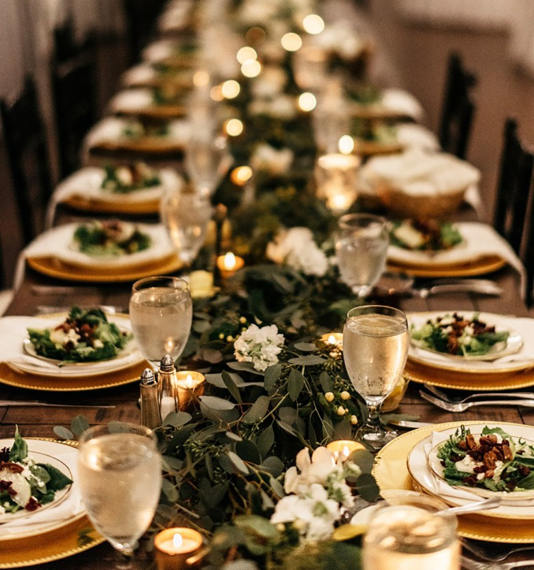 New Years Eve Tablescape by Gold & Bloom