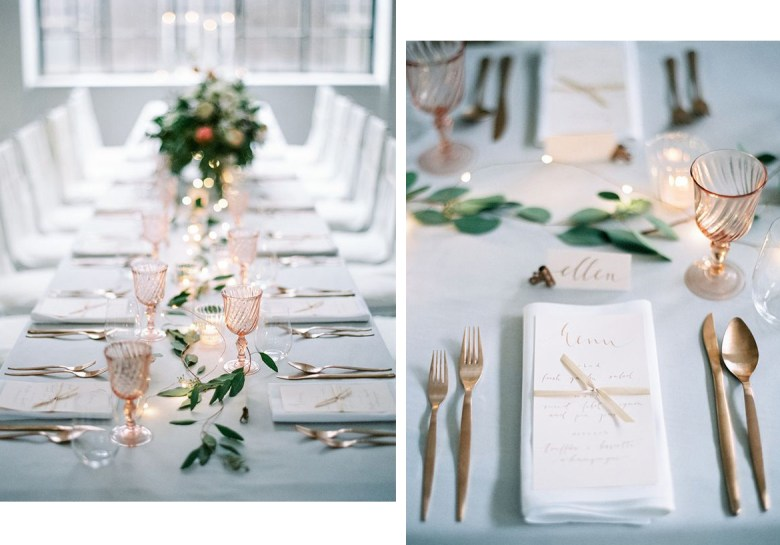 Swooned Magazine tablescape in white and gold