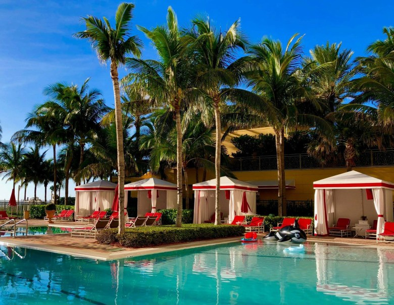 Acqualina Resort & Spa Swimming Pool and Cabanas