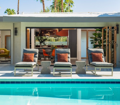 Mid-Century Modern Home - Pool Side