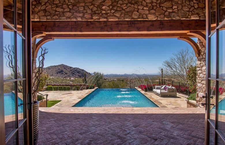 Custom Silverleaf luxury home outdoor living Az