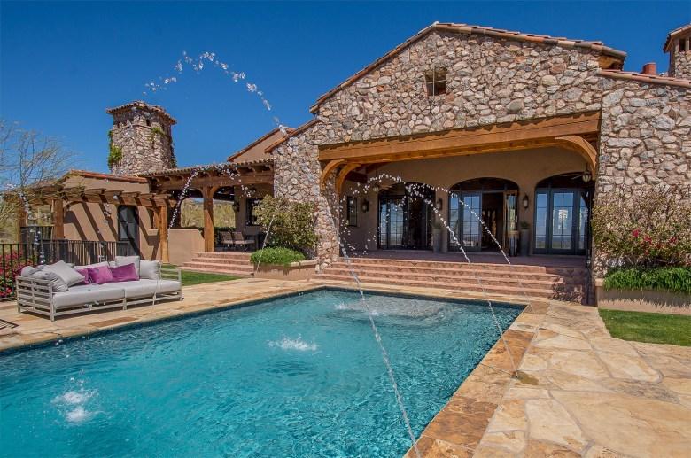 Custom Silverleaf luxury home outdoor living Scottsdale