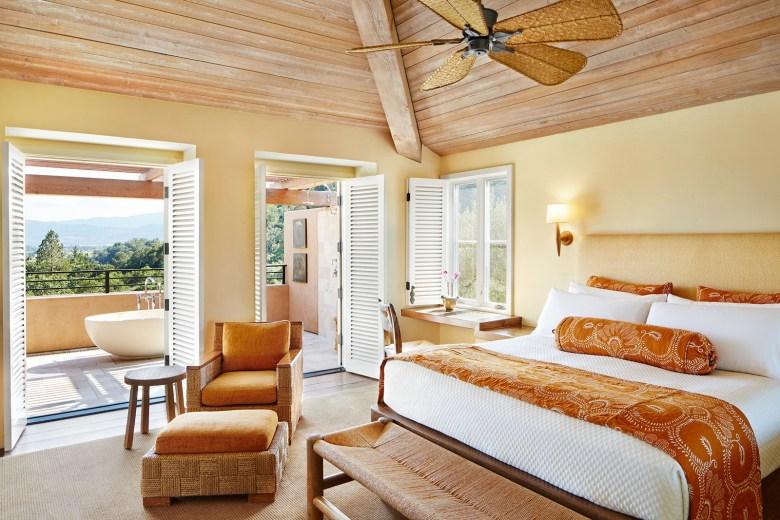 Auberge du Soleil Napa Valley, CA Bedroom