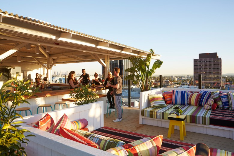 MAMA SHELTER Rooftop Bar Los Angeles CA View