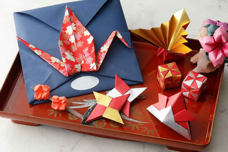 Palace Hotel in Tokyo can learn the intricate art of origami in a weekly class.