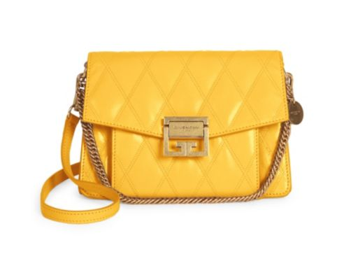 Yellow cross body bag by Givenchy.