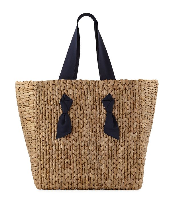 braided straw tote bag by Pamela Munson