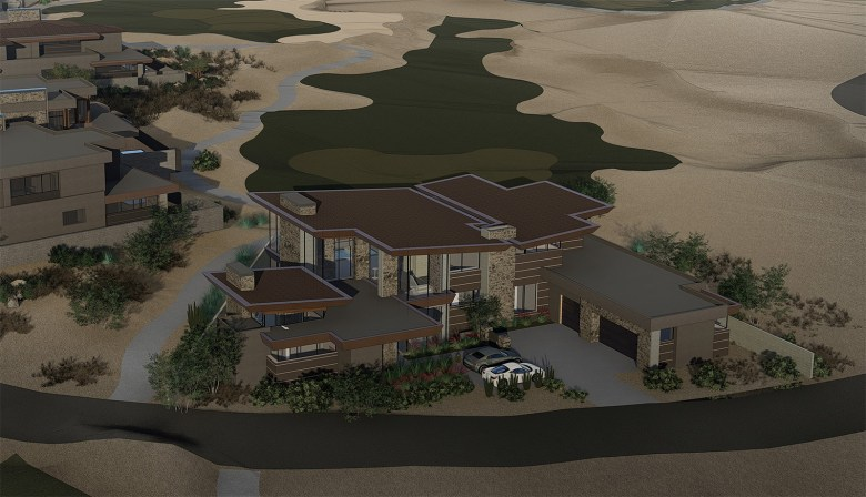 Rendering of Luxury Residence at No. 7 at Desert Mountain Golf Community