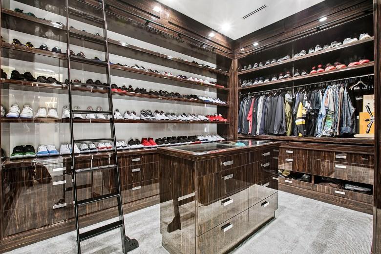 sophisticated walk-in wardrobe