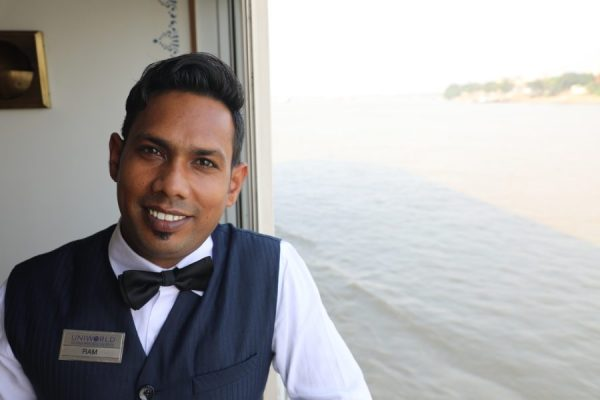 Attentive staff on a river cruise in India