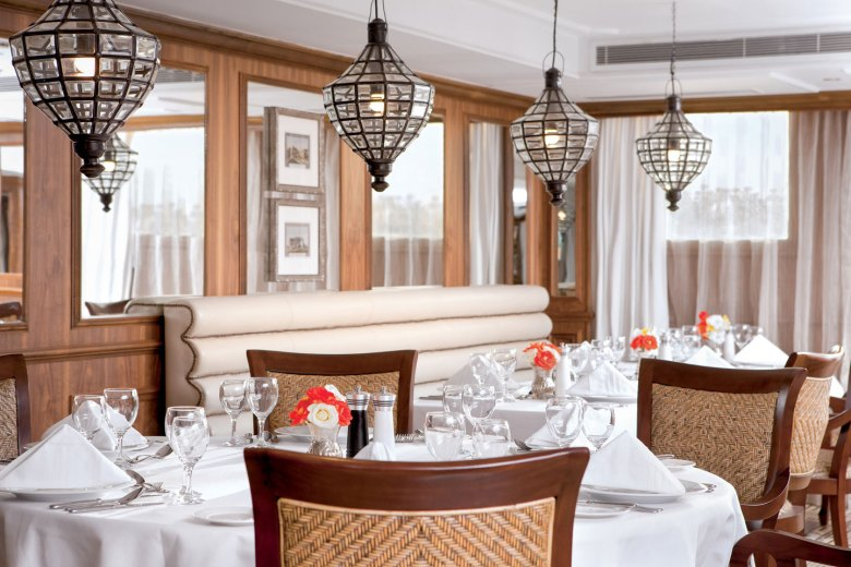 Elegant dining on an Egyptian river cruise