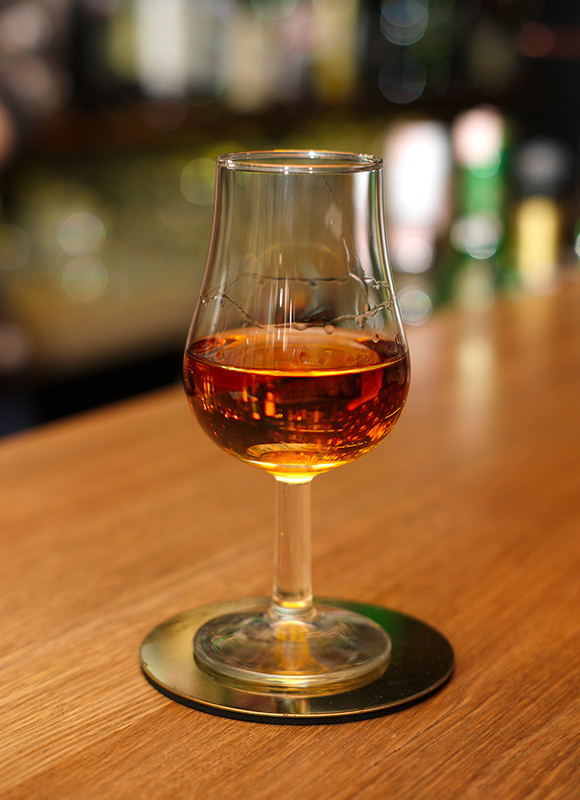 Glass of Cognac Liqueur