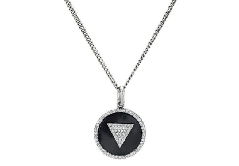 Mr. Lowe ONYX INLAY PENDANT CHAIN NECKLACE Sheryl Lowe Jewelry