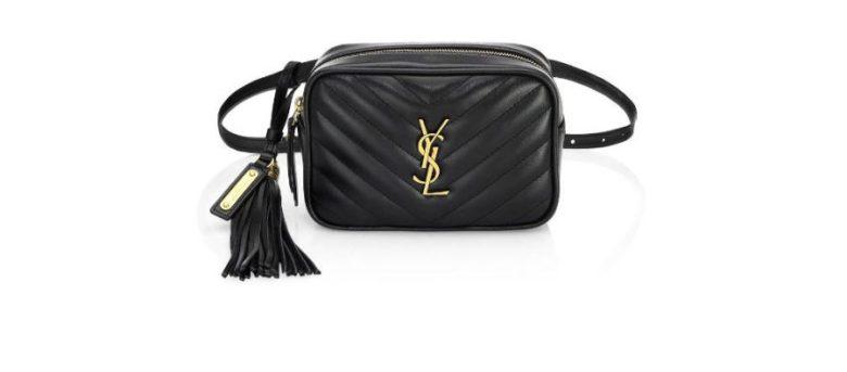 Saint Laurent Small Monogram Matelasse Leather Belt Bag