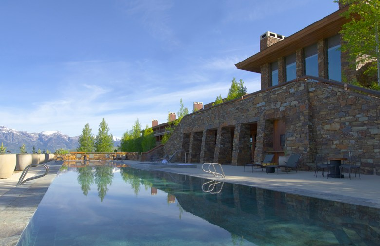 pool at amangani Jackson hole