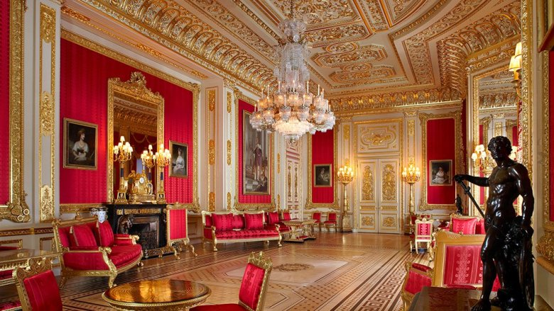 Crimson Drawing Room at Windsor Castle