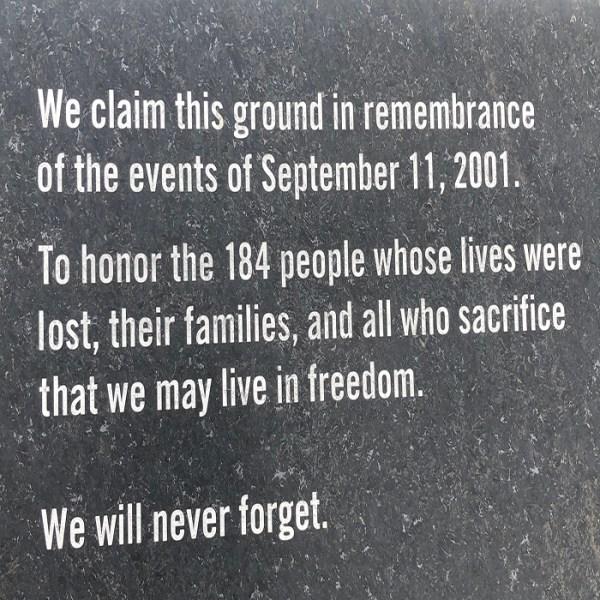 9/11 Pentagon Memorial Washington DC