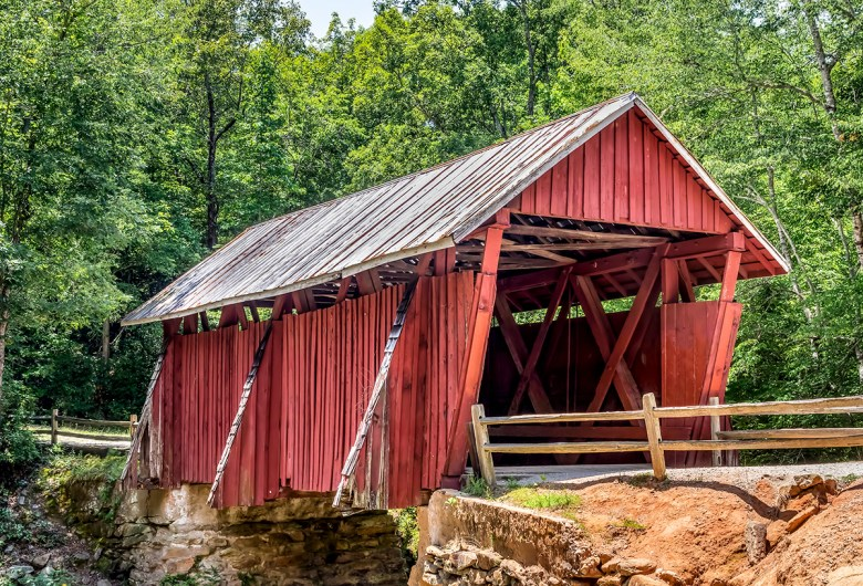 Campbell covered bridge Landrum South Carolina