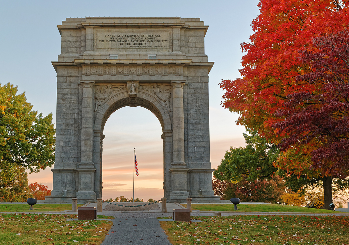 Valley Forge National Memorial Arch in Fall