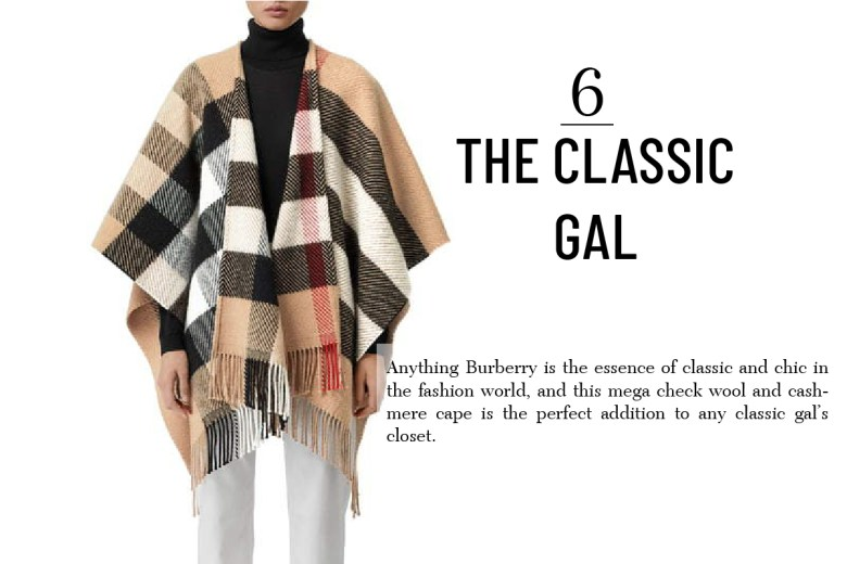 Burberry Wool and Cashmere Cape unique gift for women2