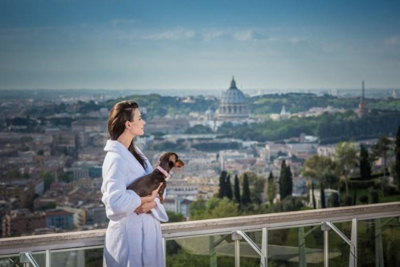 Rome Cavalieri Waldorf Astoria luxury pet hotel