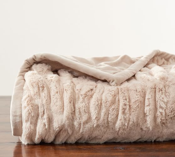 best luxury throw blanket by Pottery Barn